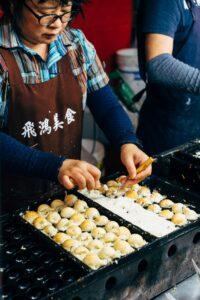 cuisson des takoyaki