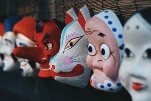 Les masques japonais traditionnels