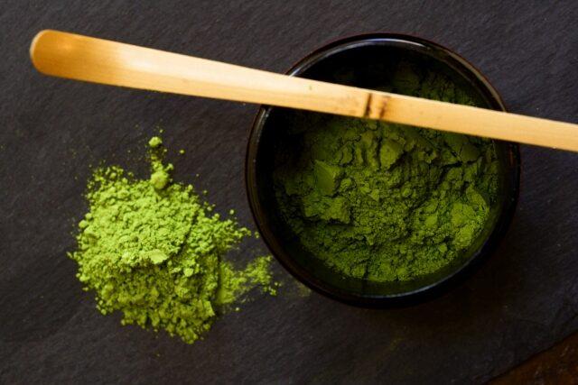 thé vert moulu matcha