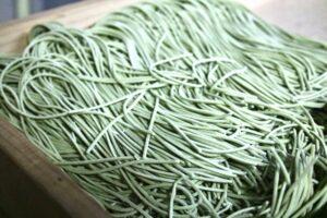 nouilles de sarrasin au thé vert. Soba thé vert.