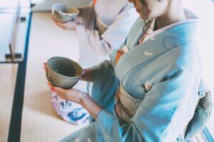 cérémonie du thé vert japonais avec matcha