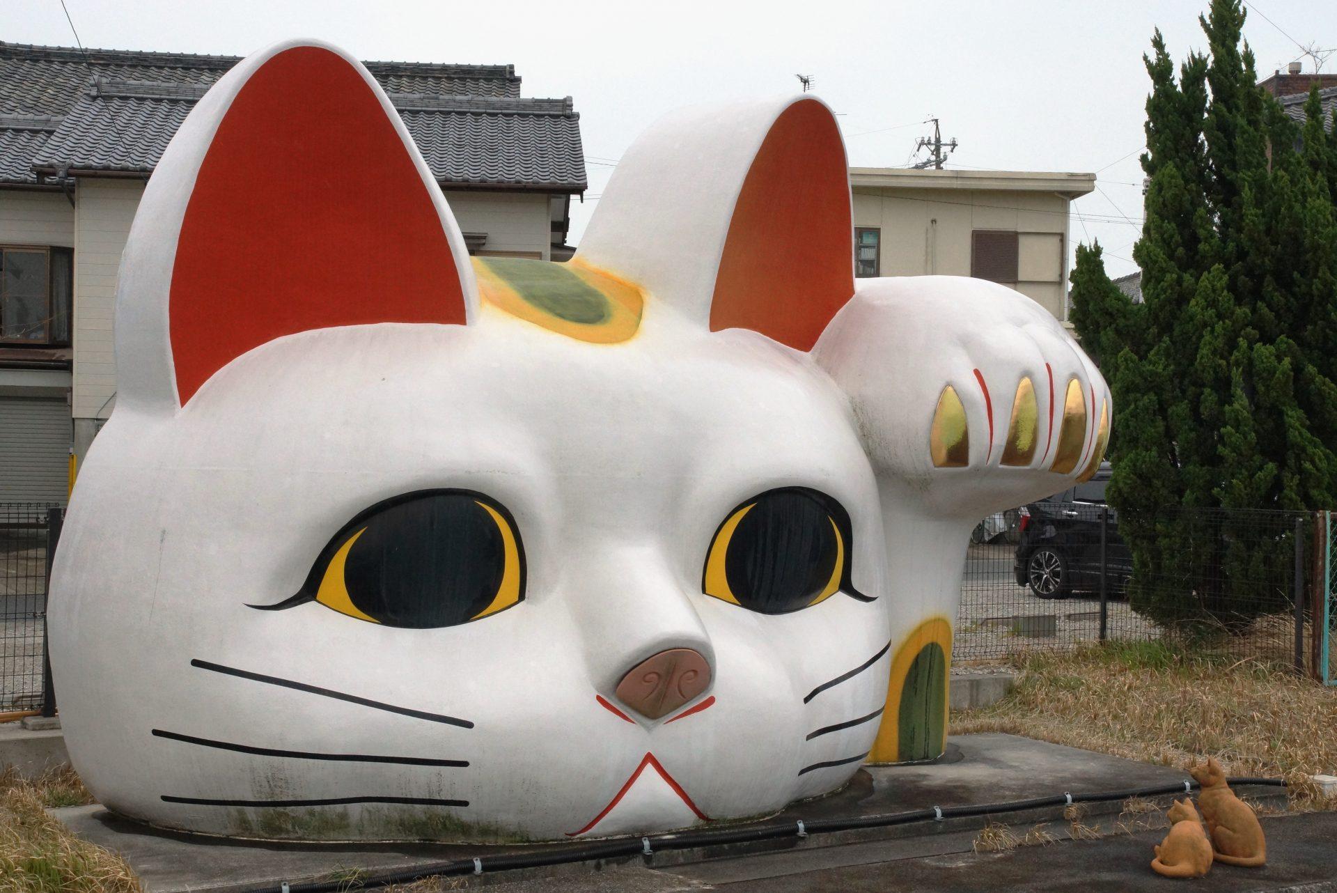 Maneki neko géant de Tokoname