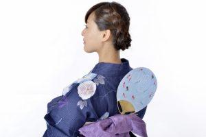 éventail uchiwa, kimono et obi